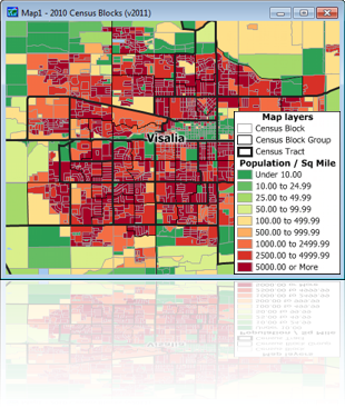 Census Block Data For Caliper Mapping Software - Us census block map