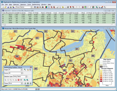 What is Redistricing Software? Maptitude for Redistricting software interface