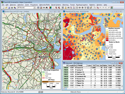 Maptitude Mapping Software Screen