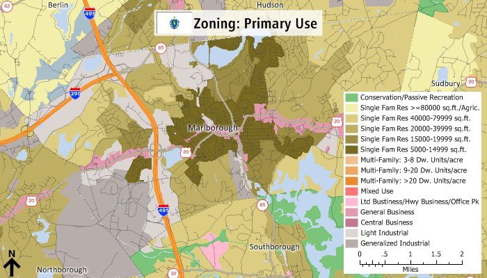 Maptitude primary use zoning map