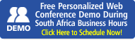 Schedule Web Conference Demo During South Africa Business Hours
