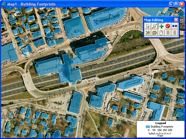 Create new geographic files from aerial images