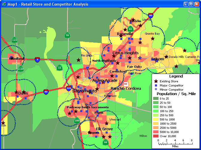 Analyze demographics, facility locations, and competitors