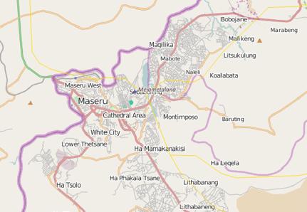 Maseru Lesotho Map Maseru Lesotho Map