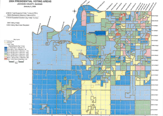 Johnson County Election Day Turnout Maptitude Map
