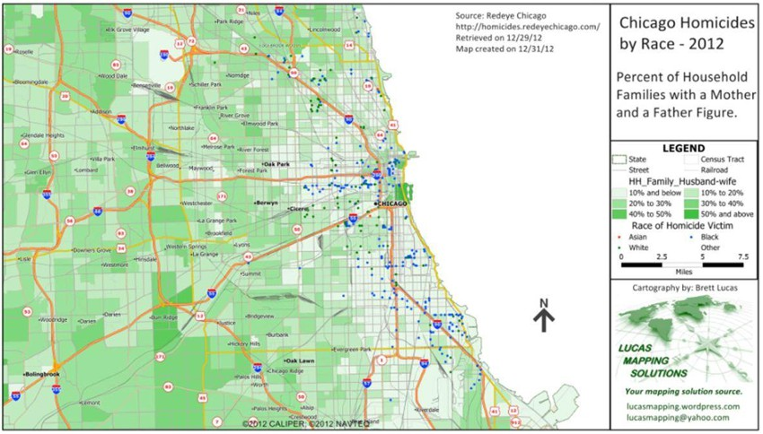 Maptitude Map Chicago Homicides by Race