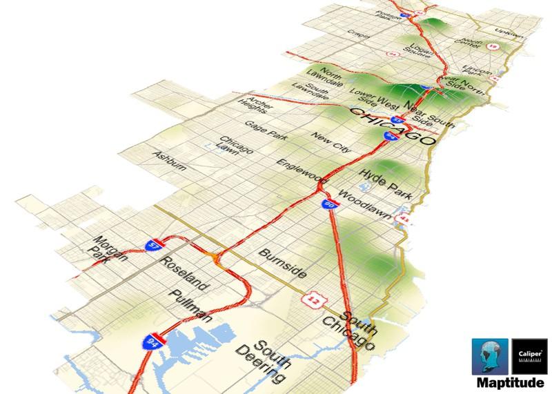 Maptitude Map Chicago Homicides