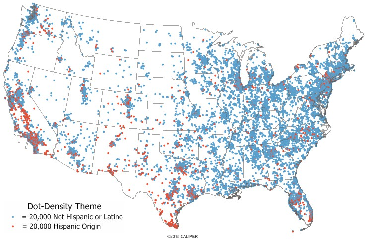 What Is A DotDensity Map DotDensity Map Definition - Us census dot map