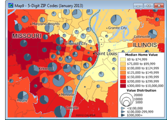 Sample map of 2013 ZIP Codes with the new 2011 ACS data