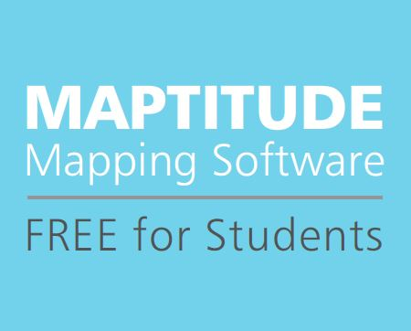 Maptitude Mapping Software Free for Students