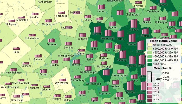 Analyze real estate trends with maps