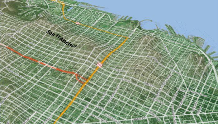 Maptitude 3-D surface map