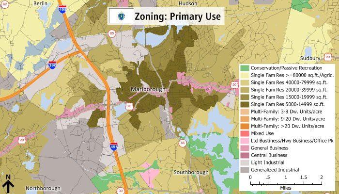 Maptitude primary use zoning map