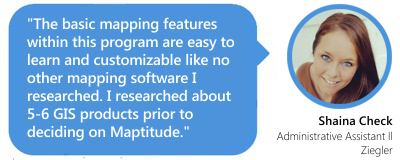 Maptitude 2017 continues to be a robust GIS software package that competes at all levels. - Brett Lucas