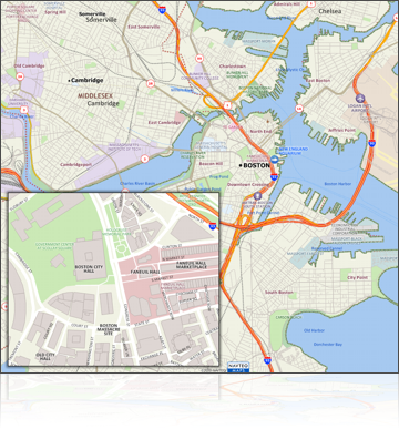Boston Map with New Geographic Data