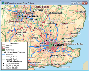 Maptitude for Great Britain Map