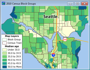 Census Block Group Map Census Block Groups for Maptitude Mapping Software