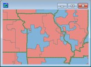 Sample Congressional Districts Map