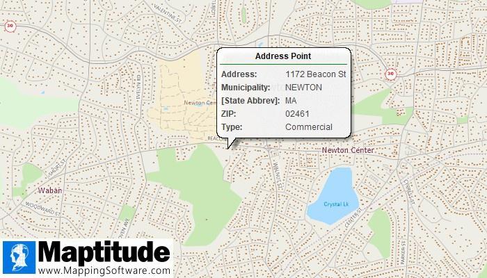 Maptitude free address point data