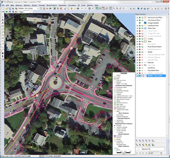 Microsimulation of alternative intersections, signalized intersections, and roundabouts