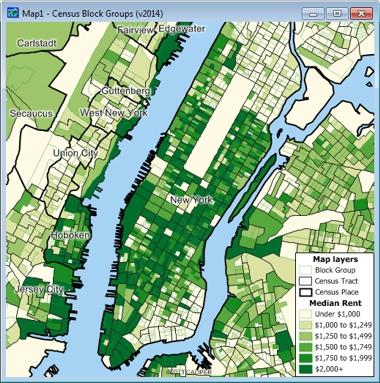 Census Block Group Map Census Block Group Data for Use with Maptitude Mapping Software