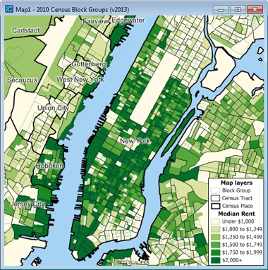 Census Block Group Map Maptitude Census Block Group Data with 2011 ACS Data
