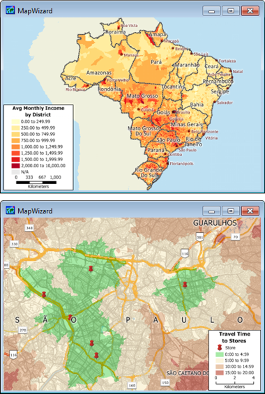 Sample Maptitude Brazil Maps