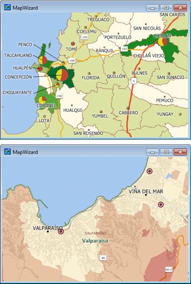 Sample Maptitude Chile Maps