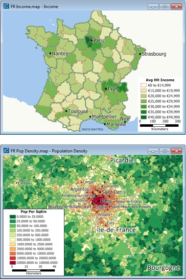 France Data for Use with Maptitude