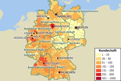 Maptitude Germany Map of Population Density by Kreis