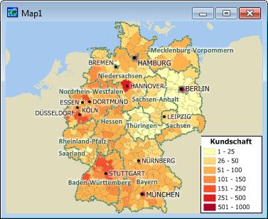 Maptitude - das geographisches informationssystem für Deutschland