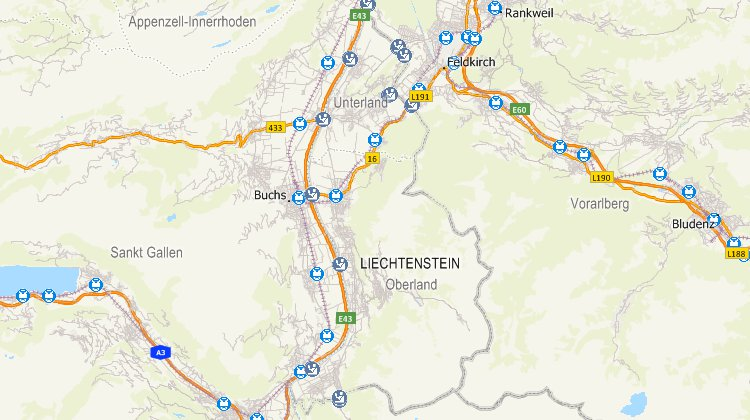 Liechtenstein mapping software