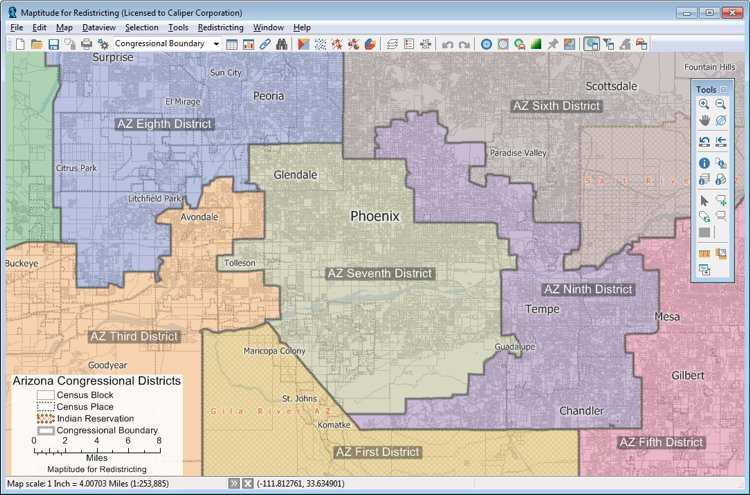 Maptitude for Redistricting alternative to BDistricting
