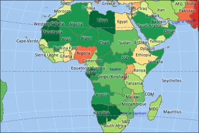 Maptitude Africa Map