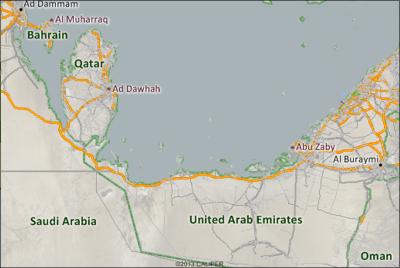Maptitude Arabian Peninsula Map