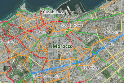 Maptitude Casablanca Map