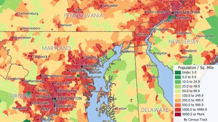 Maptitude Census Case Study Map