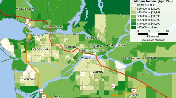 Canada Postal Code Mapping Software Postal Code Maps