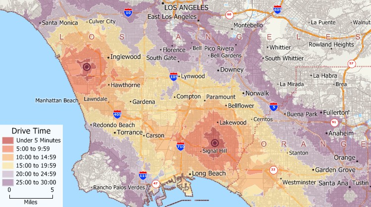 Drive Time Zones on drive time charlotte nc, per capita gdp map, drive time tucson az,