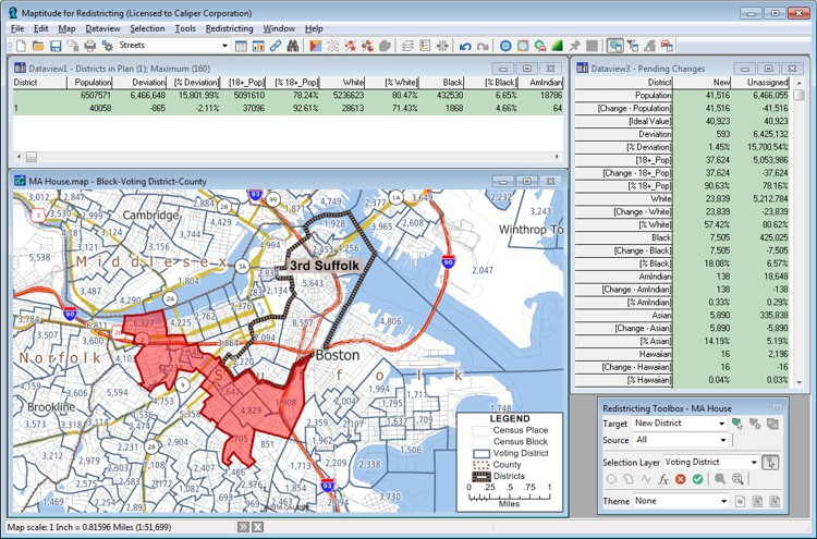 See Maptitude for Redistricting software at NCSL 2017 Annual Conference, Boston MA