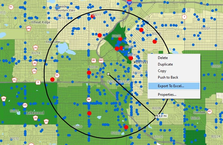 Cluster map created with Maptitude MPRouteWriter replacement