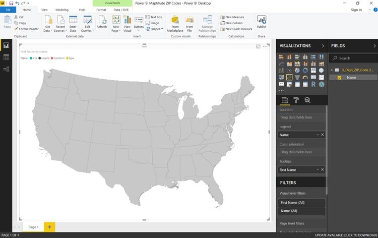 Power BI mapping