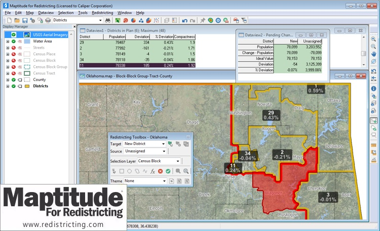 Oklahoma House selects Maptitude for Redistricting
