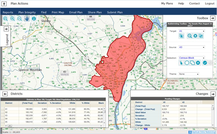Public access redistricting with Maptitude for Redistricting