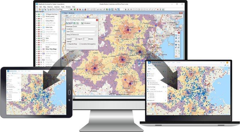 Maptitude Online Sharing