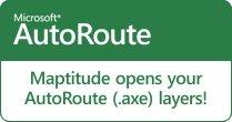 Maptitude opens Microsoft AutoRoute map layers