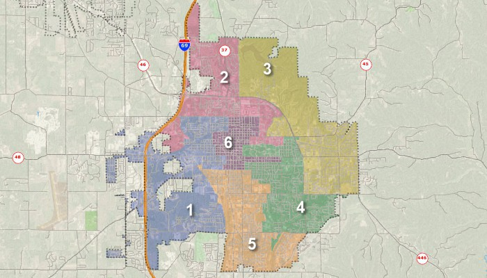 Redistricting map created with Maptitude redistricting app