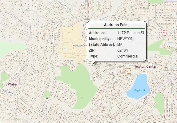 Address location map created with Maptitude Salesgenie alternative