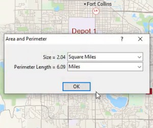How to measure distance in Maptitude