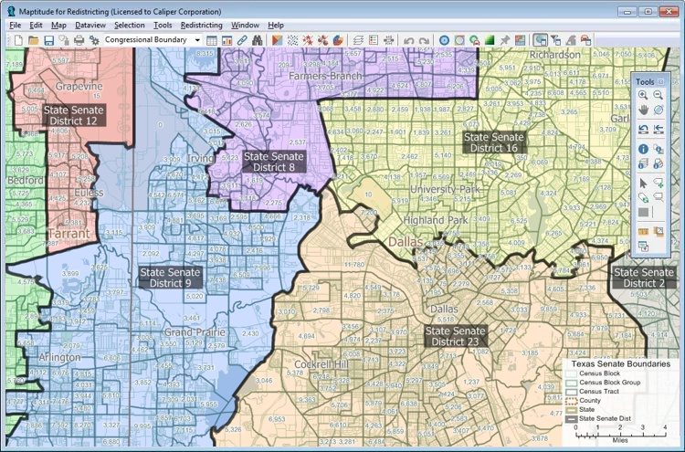 Maptitude for Redistricting alternative to RedAppl